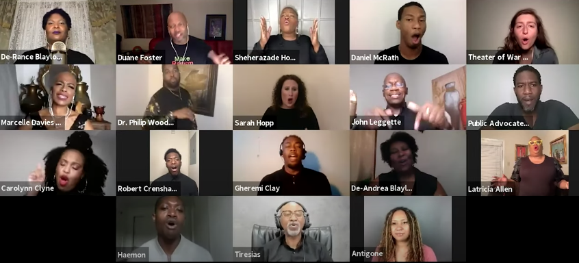 Zoom performance of Antigone in Ferguson